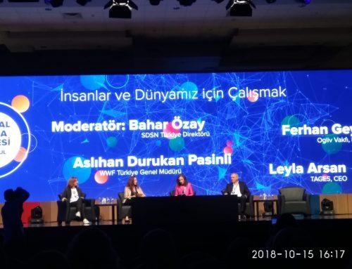"""2018 Sosyal Fayda Zirvesi'nde """"İnsanlar ve Dünyamız için Çalışmak"""" Panelini UN SDSN Türkiye Yönetti"""